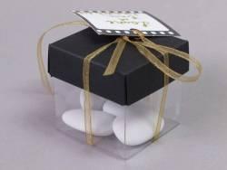 Ballotin cube cinéma + étiquette