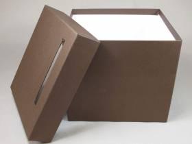 Urne mariage carrée - Chocolat