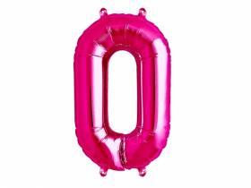 Ballon anniversaire chiffre 0 rose