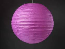 Lampion papier Ø35cm - Aubergine