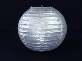Lampion papier Ø25cm - Argent