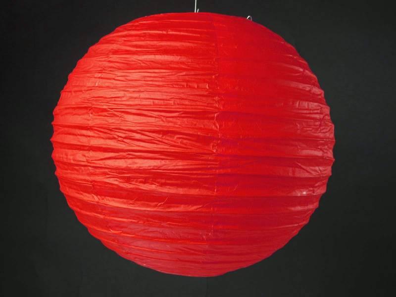 Lampion papier Ø50cm - Rouge