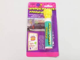 Marqueur vitre temporaire - Jaune