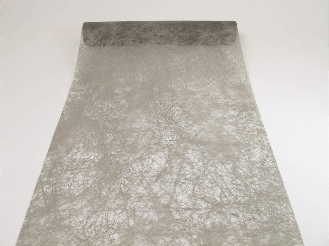 chemin de table romance gris fonc decofete. Black Bedroom Furniture Sets. Home Design Ideas