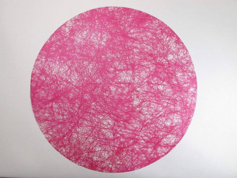Set de table Romance Rond - Fuchsia x10