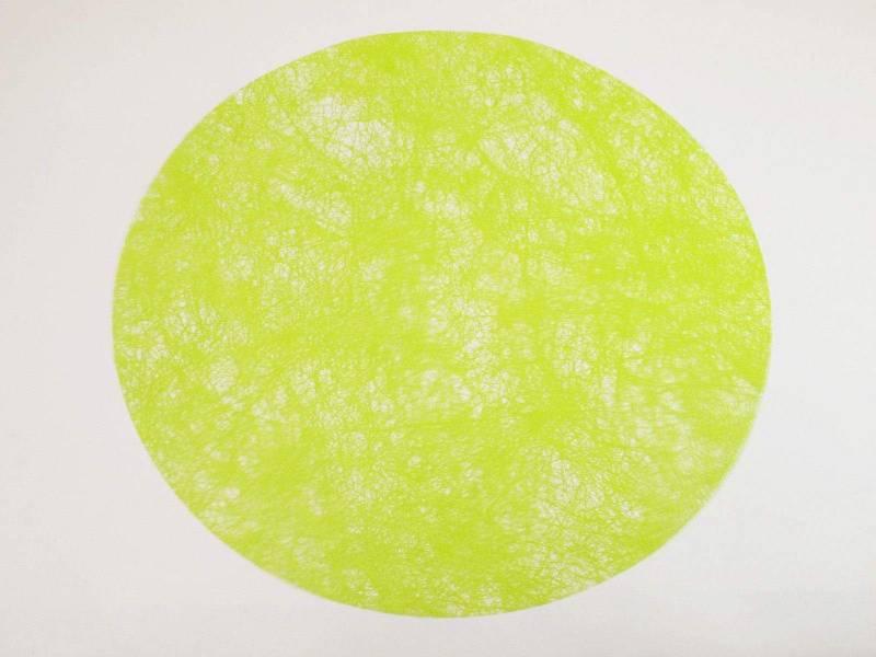 Set de table Romance Rond - Vert Lime x10