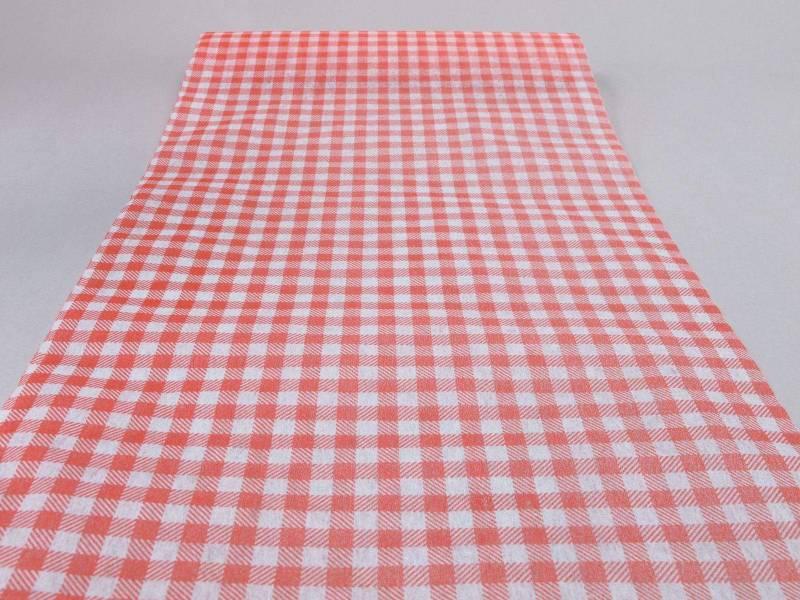 Chemin de table élégance - Vichy Rouge