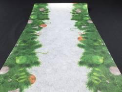 Chemin de table sapin ornements