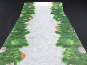 Chemin de table sapin ornements