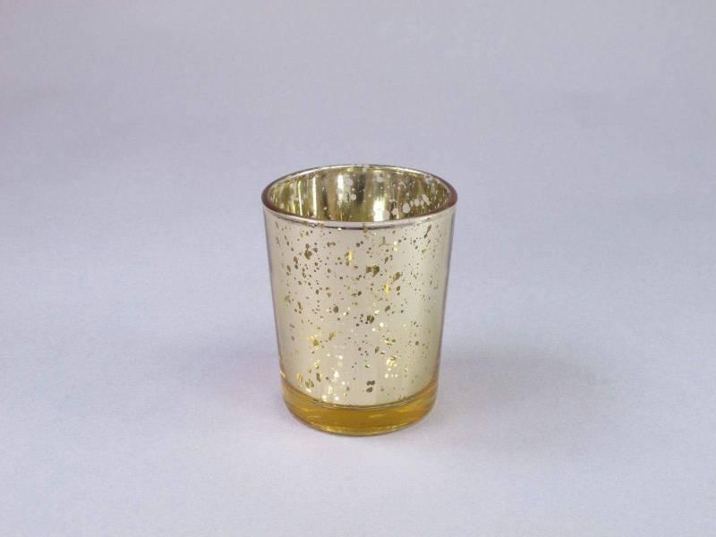 Bougeoir en verre métallisé - Or