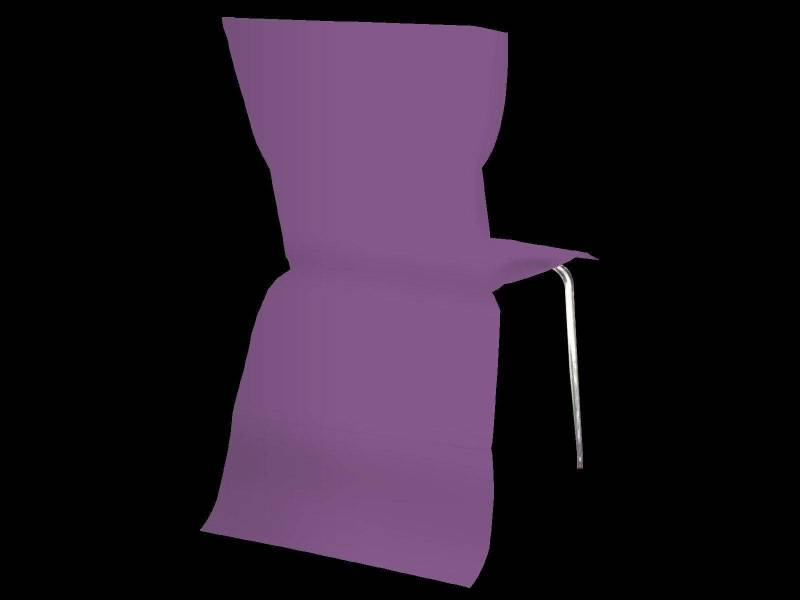 Housse de chaise élégance - Prune