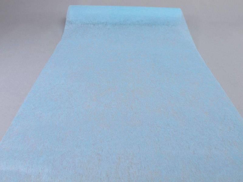 Chemin de table élégance - Bleu Pastel