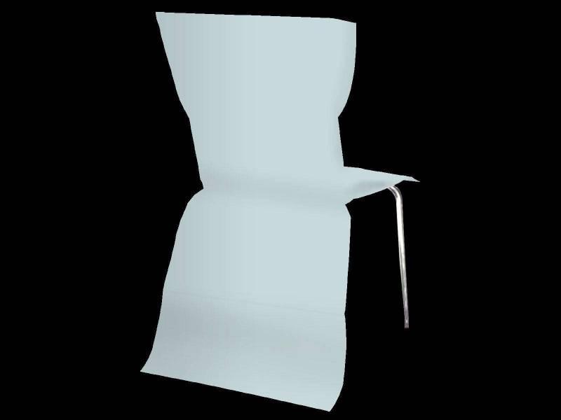 Housse de chaise élégance - Bleu Pastel
