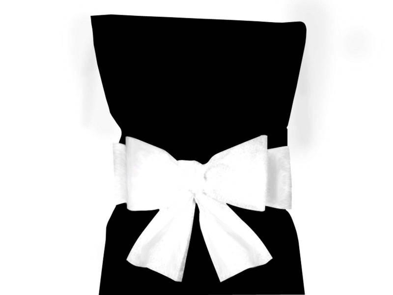 Noeud pour housse de chaise - Blanc