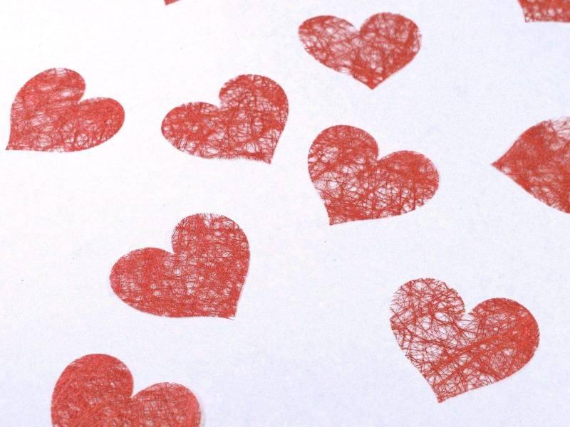 Confetti coeur romance - Rouge