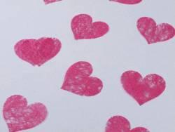 Confetti coeur romance - Fuchsia