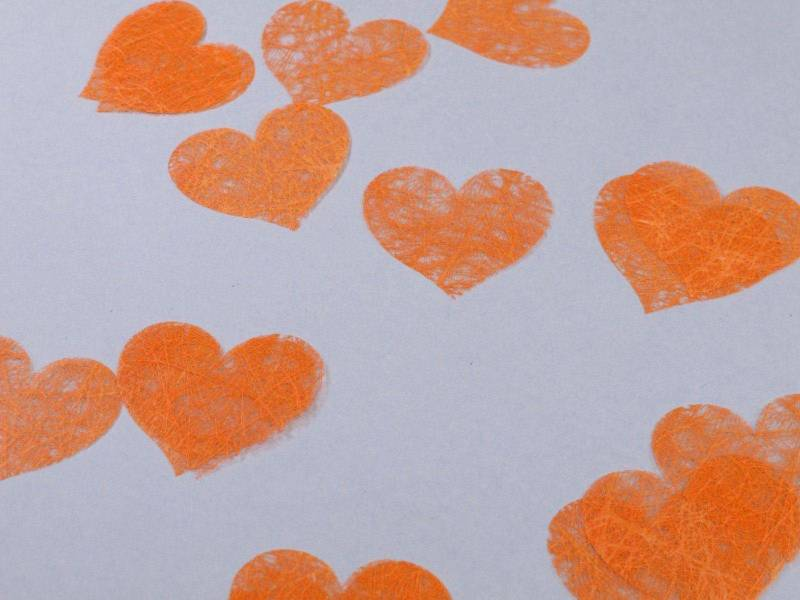 Confetti coeur romance - Orange