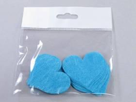 Confetti coeur romance - Turquoise