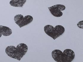 Confetti coeur romance - Noir