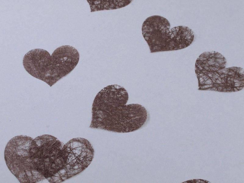 Confetti coeur romance - Chocolat