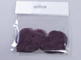 Confetti coeur romance - Prune