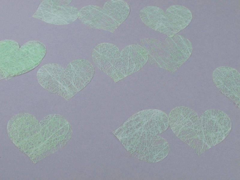 Confetti coeur romance - Vert Pâle