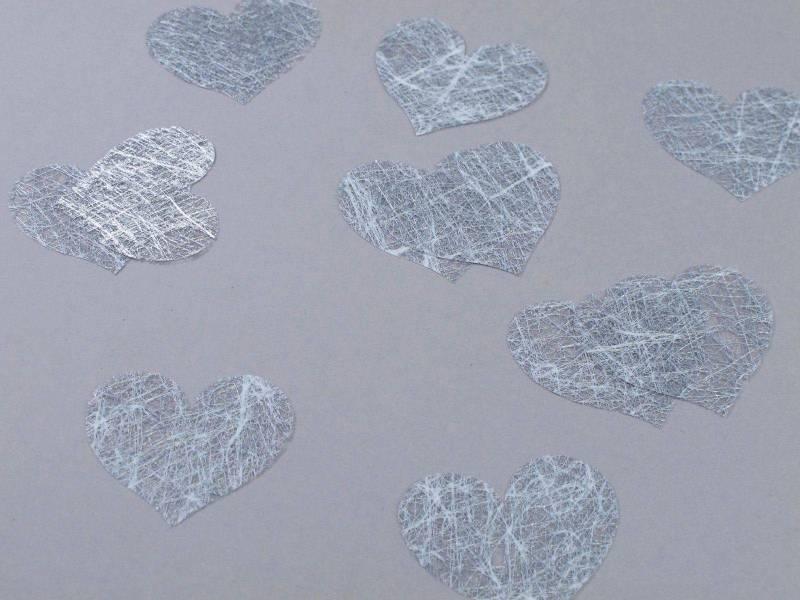 Confetti coeur romance - Argent