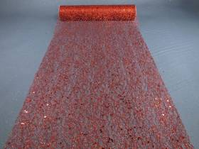 Chemin de table glitter - Rouge
