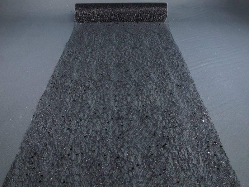 Chemin de table glitter - Noir