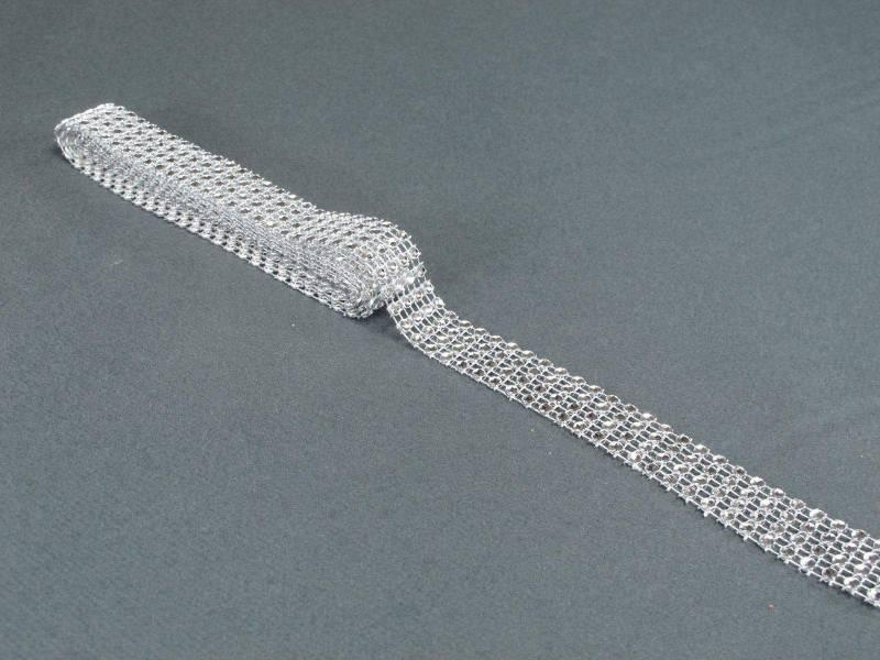 Ruban diamants 2cm - Argent