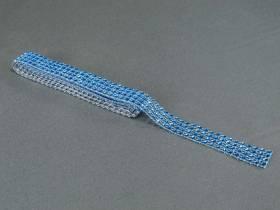 Ruban diamants 2cm - Turquoise