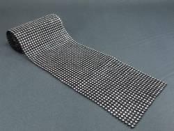 Ruban diamants 11,5cm - Noir-Argent