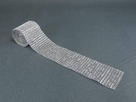 Ruban diamants 6cm - Argent