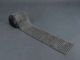 Ruban diamants 6cm - Noir-Argent