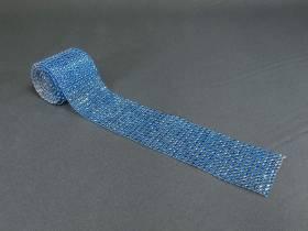 Ruban diamants 6cm - Turquoise