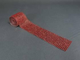 Ruban diamants 6cm - Rouge