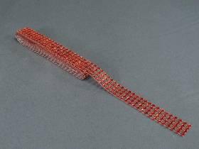 Ruban diamants 2cm - Rouge