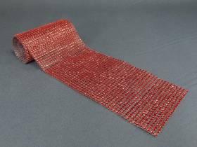 Ruban diamants 11,5cm  - Rouge