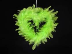 Petit Coeur creux plume - Vert Lime