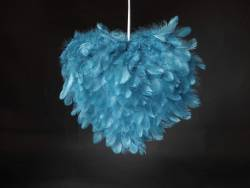 Coeur plume - Turquoise