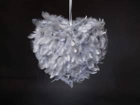 Coeur plume - Gris