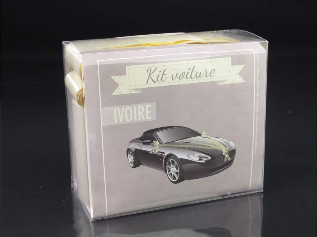 kit d coration voiture mariage ivoire decofete. Black Bedroom Furniture Sets. Home Design Ideas
