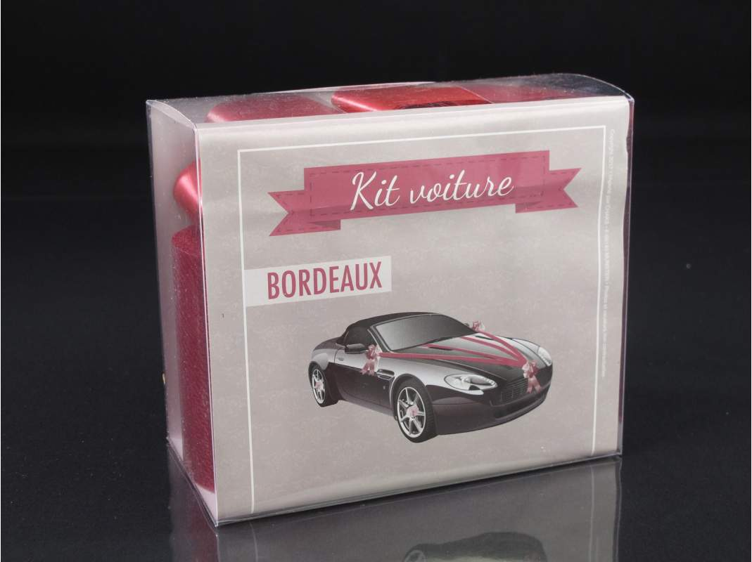kit d coration voiture mariage bordeaux decofete. Black Bedroom Furniture Sets. Home Design Ideas