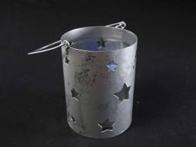 Lanterne étoile métal - Argent