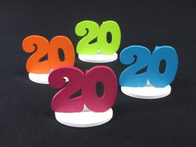 Marque place 20ans coloré x4