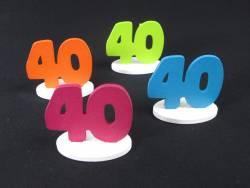 Marque place 40ans coloré x4