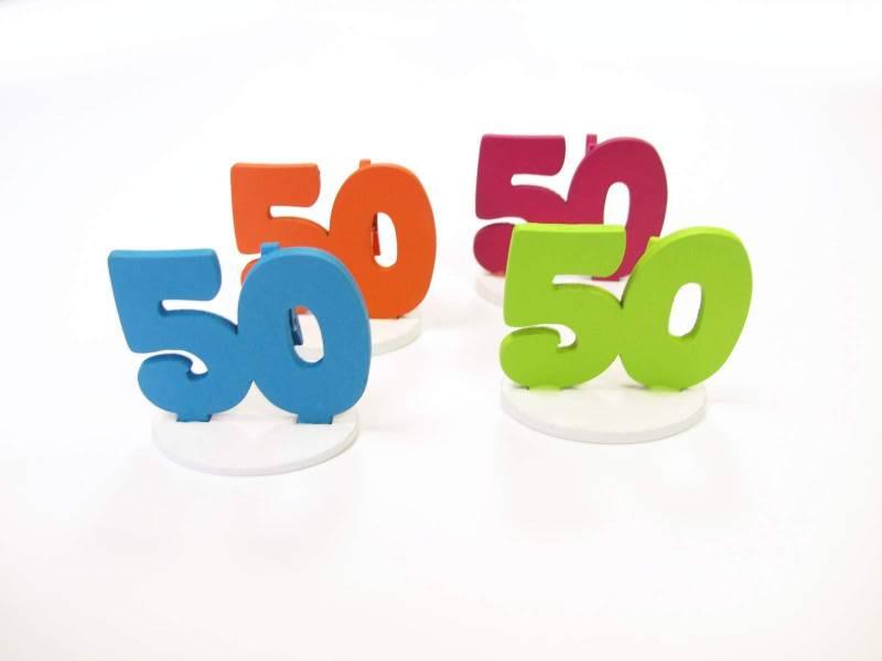 Marque place 50ans coloré x4