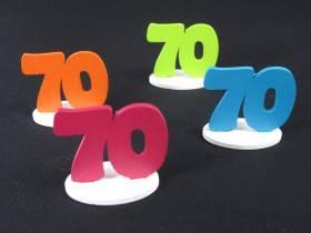 Marque place 70ans coloré x4