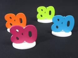 Marque place 80ans coloré x4