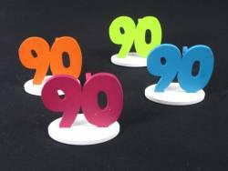 Marque place 90ans coloré x4